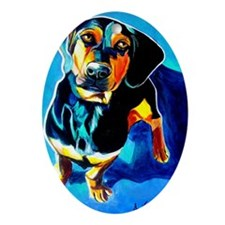 Dachshund #3 Oval Ornament