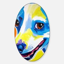 Jack Russell #4 Sticker (Oval)