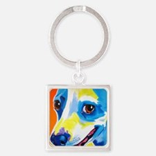 Jack Russell #4 Square Keychain