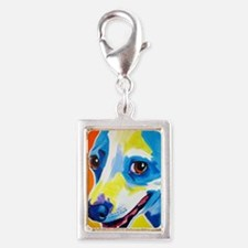 Jack Russell #4 Silver Portrait Charm