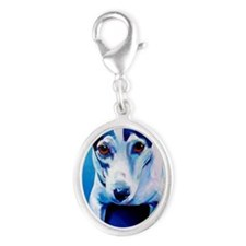 Jack Russell #5 Silver Oval Charm