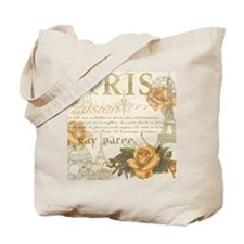 Vintage Paris Tote Bag