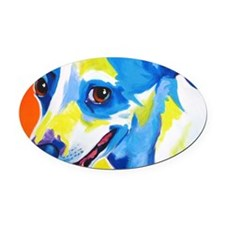 Jack Russell #4 Oval Car Magnet