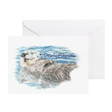 Otterly Adorable Humorous Cute  Otte Greeting Card