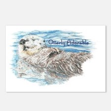 Otterly Adorable Humorous Postcards (Package of 8)