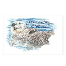 Otterly Best Dad ever quo Postcards (Package of 8)