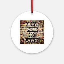 Grow Food Round Ornament