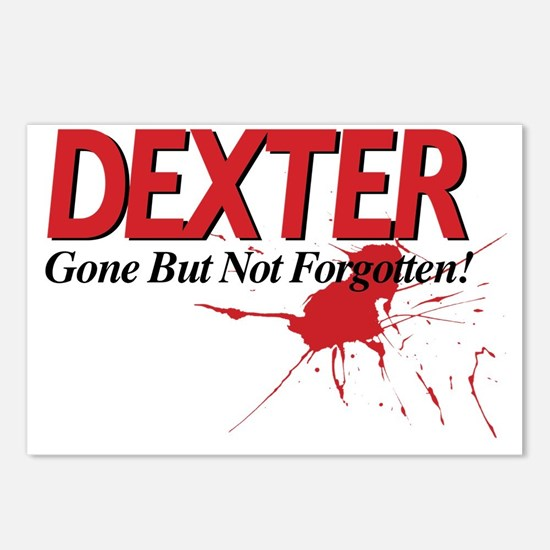 Dexter Gone But Not Forgo Postcards (Package of 8)
