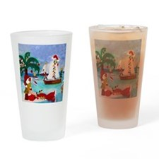 Christmas Boat Parade Drinking Glass
