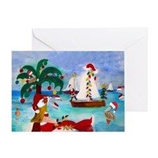 Christmas Boat Parade Greeting Card