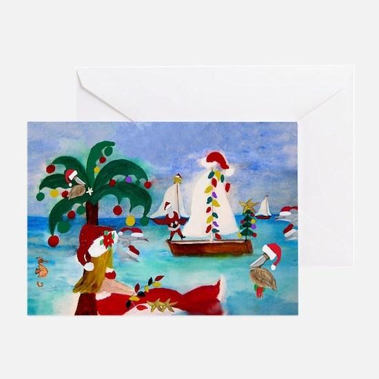Christmas Boat Parade Greeting Card