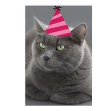 Russian Blue Birthday Car Postcards (Package of 8)