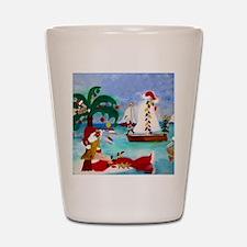 Christmas Boat Parade Shot Glass