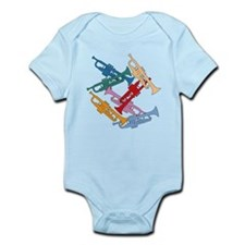 Colorful Trumpets Infant Bodysuit