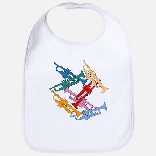 Colorful Trumpets Bib