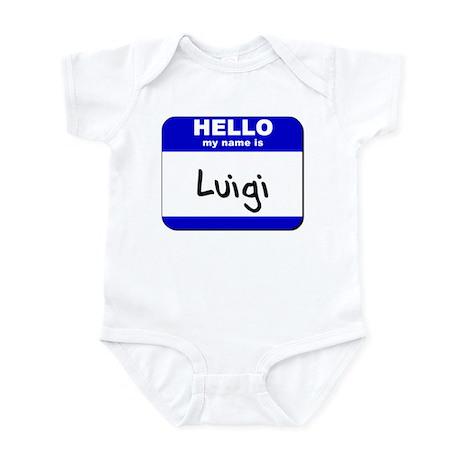 hello my name is luigi Infant Bodysuit