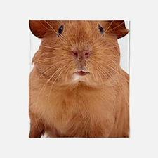 guinea pig face Throw Blanket