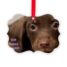 Puppy Dog Birthday Card Picture Ornament