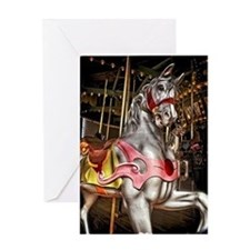 The Carousel Horse Greeting Card