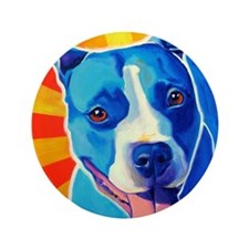 """Pit Bull #4 3.5"""" Button"""