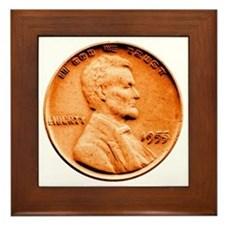 1955 Double Die Lincoln Cent Framed Tile
