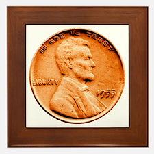 1955 Double Die Lincoln Cent Framed Tile