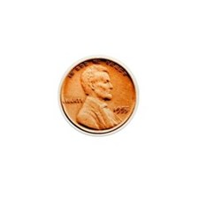 1955 Double Die Lincoln Cent Mini Button
