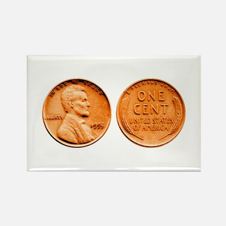 1955 Double Die Lincoln Cent Rectangle Magnet