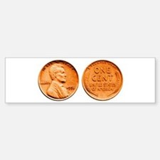 1955 Double Die Lincoln Cent Bumper Car Car Sticker