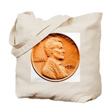 1955 Double Die Lincoln Cent Tote Bag
