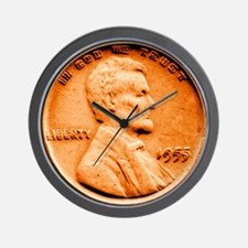 1955 Double Die Lincoln Cent Wall Clock