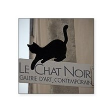 "le chatmouse Square Sticker 3"" x 3"""