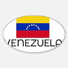 I HEART VENEZUELA FLAG Decal