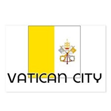I HEART VATICAN CITY FLAG Postcards (Package of 8)