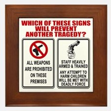 Gun Control Framed Tile