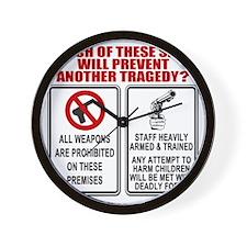 Gun Control Wall Clock