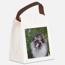 Keeshond Smiling Canvas Lunch Bag