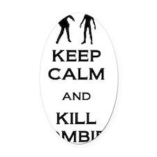 Kill Zombies Oval Car Magnet