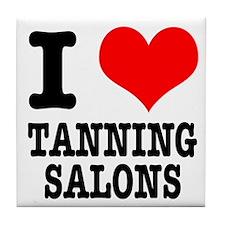 I Heart (Love) Tanning Salons Tile Coaster