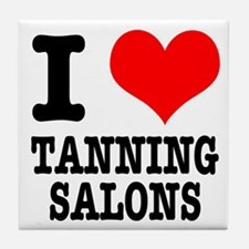 I Heart (Love) Tanning Salons Tile Coaster