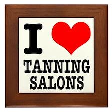 I Heart (Love) Tanning Salons Framed Tile