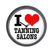 I Heart (Love) Tanning Salons Wall Clock