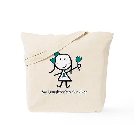 Teal Ribbon - Daughter Tote Bag