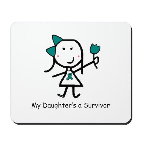 Teal Ribbon - Daughter Mousepad