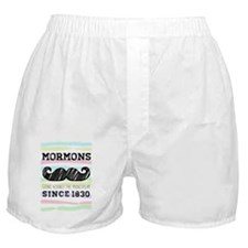 Hipster Mormon Striped Boxer Shorts