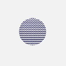 Chevron Zigzag Pattern Navy Blue and W Mini Button