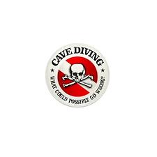 Cave Diving (Skull) Mini Button