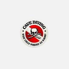 Cave Diving (Skull) Mini Button