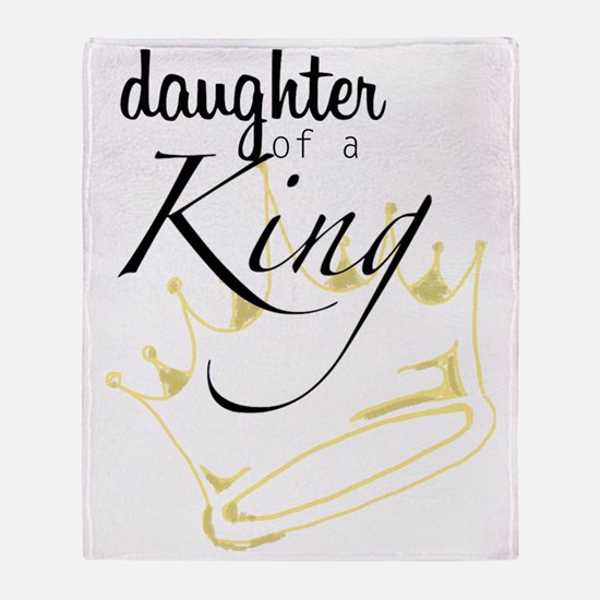 Daughter of a King Throw Blanket