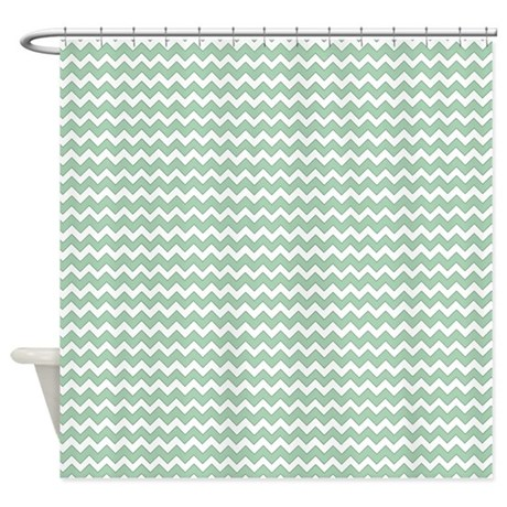 Chevron Zigzag Pattern Mint Green A Shower Curtain By Admin Cp21872627